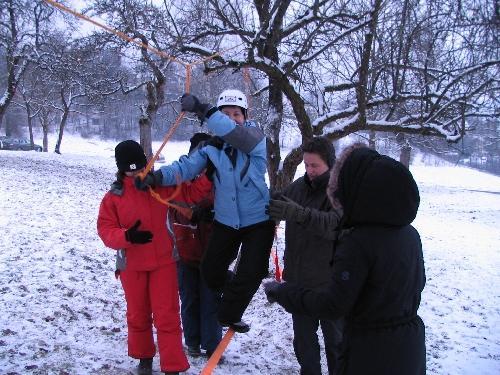Slacklining bei der Team-Challenge Gidibauer